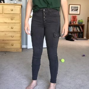 American Eagle Gray Cargo Jeggings